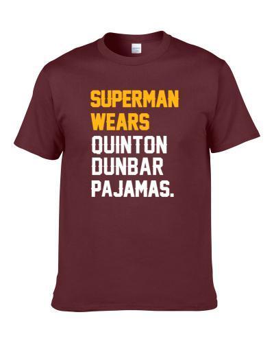 Superman Wears Quinton Dunbar Pajamas Washington Football Player Men T Shirt
