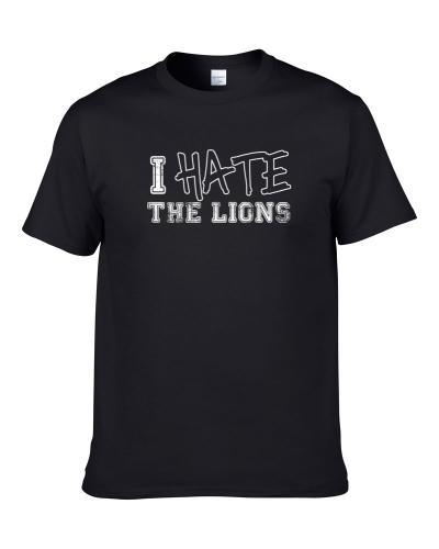 Hate The Detroit Football Team Fan Support Hater Funny S-3XL Shirt
