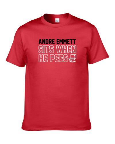 Andre Emmett Sits When He Pees Miami Basketball Player Funny Sports Shirt