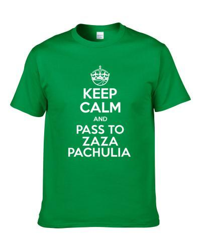 Keep Calm And Pass To Zaza Pachulia Milwaukee Basketball Players Cool Sports Fan tshirt