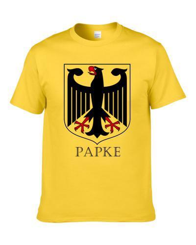 German Last Name Custom Papke Germany Coat Of Arms T Shirt