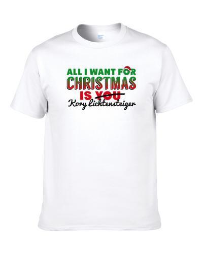 All I Want For Christmas Is Kory Lichtensteiger Washington Football Fan Men T Shirt