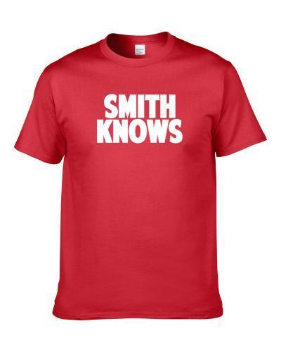 Sean Smith Knows Kansas City Football Player Sports Fan Men T Shirt