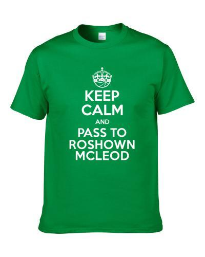 Keep Calm And Pass To Roshown Mcleod Boston Basketball Players Cool Sports Fan Men T Shirt