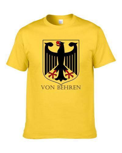 Von Behren German Last Name Custom Surname Germany Coat Of Arms T Shirt