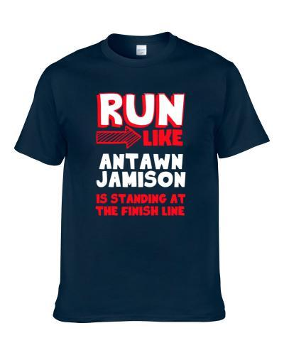 Run Like Antawn Jamison Is At The Finish Line Dallas Basketball Player Funny Fan TEE