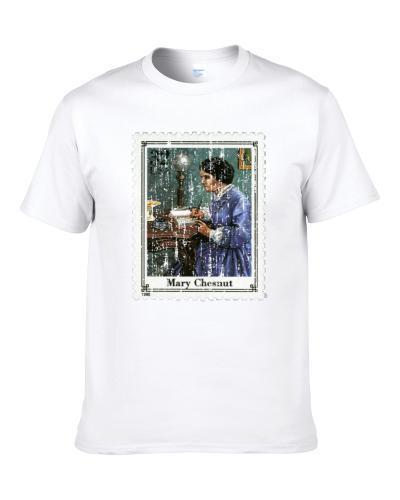 Civil War Mary Chestnut Stamp Collector Gift Men T Shirt