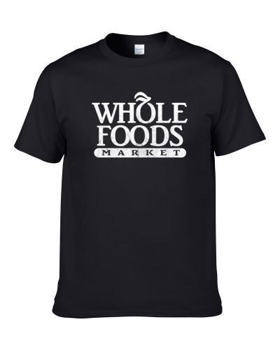 Whole Foods Market Grocery Store Company Logo Vintage Grunge Look tshirt