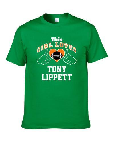 This Girl Loves Tony Lippett Miami Football Player Sports Fan Heart T Shirt