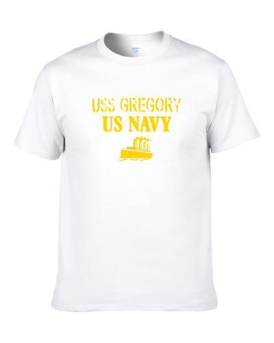 Uss Gregory Us Navy Ship Crew T Shirt