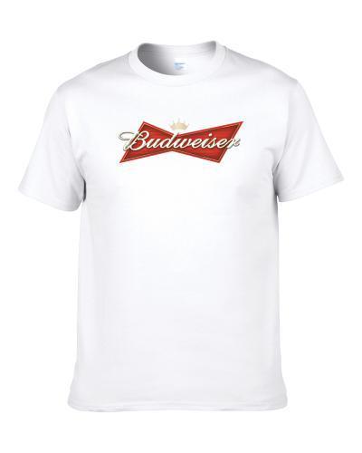 Budweiser American Beer New Logo Label Drinking TEE