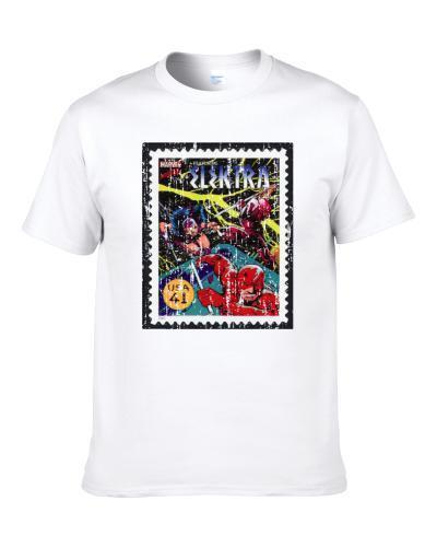 Marvel Superheroes Elektra 2 Stamp Collector Gift Worn Look Shirt