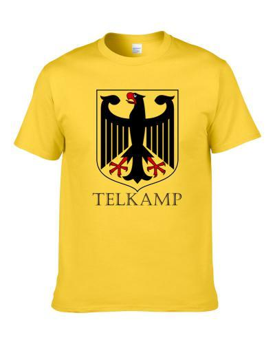 Telkamp German Last Name Custom Surname Germany Coat Of Arms T Shirt
