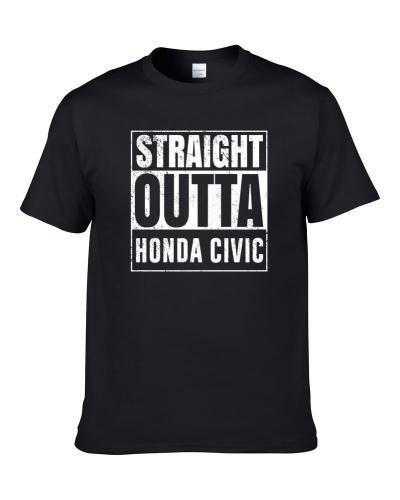 Straight Outta Honda Civic Compton Parody Car Lover Fan Hooded Pullover T Shirt