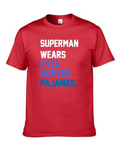 Superman Wears Kyle Korver Pajamas Philadelphia Basketball Player Cool Fan tshirt for men