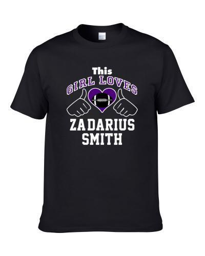 This Girl Loves Za'Darius Smith Baltimore Football Player Sports Fan Heart T Shirt