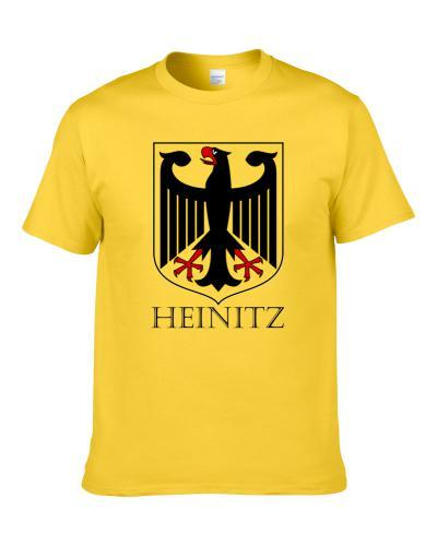 Heinitz German Last Name Custom Surname Germany Coat Of Arms T Shirt