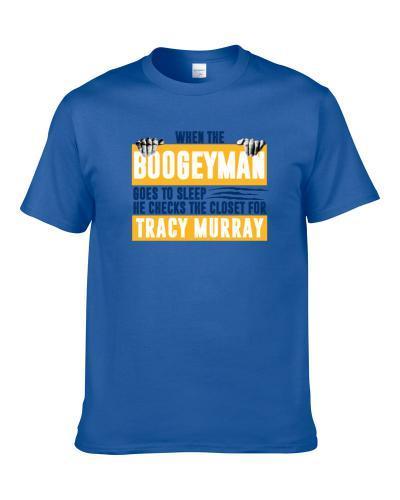 Tracy Murray Boogeyman Checks Closet For Denver Basketball Shirt