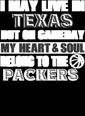 Live In Texas Gameday Green Bay Basketball Cool Sports Fan S-3XL Shirt