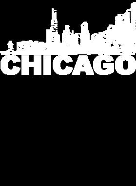 Chicago Cityscape Skyline Black Men T Shirt