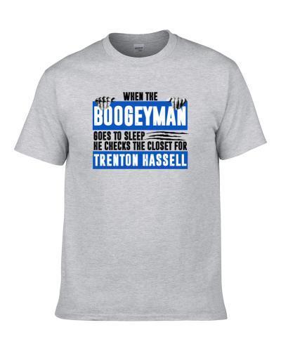 Trenton Hassell Boogeyman Checks Closet For Dallas Basketball TEE