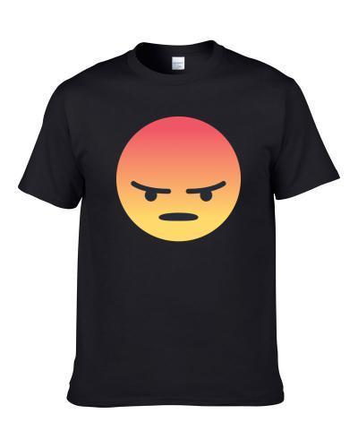 Large Angry Emoji Logo Funny Retro Gift T Shirt