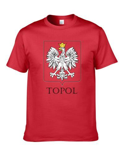 Topol Polish Last Name Custom Surname Poland Coat Of Arms S-3XL Shirt
