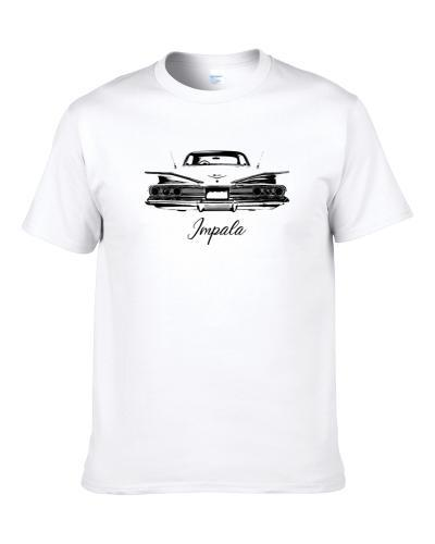 1960 Impala Rear View With Model Name Heavy Duty Light Color Comfy S-3XL Shirt