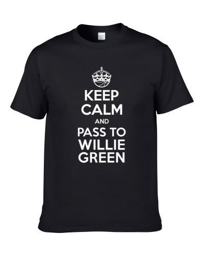 Keep Calm And Pass To Willie Green New Orleans Basketball Players Cool Sports Fan Men T Shirt