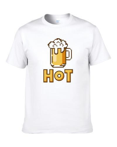 Cool Hot Beer Shirt Drinking Alcohol Party Shirt