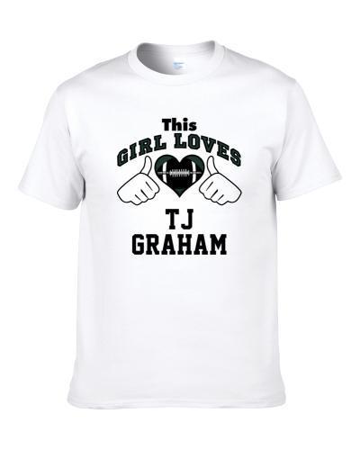 This Girl Loves Tj Graham New York Ny Football Player Sports Fan Heart S-3XL Shirt