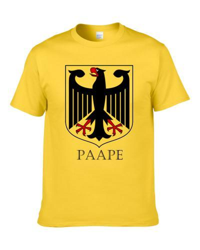 German Last Name Custom Paape Germany Coat Of Arms T Shirt