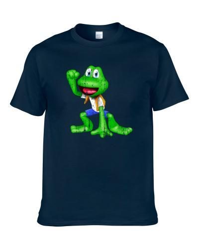 Frogger Cool Android App Vintage Mobile Game Fan Worn Look tshirt for men