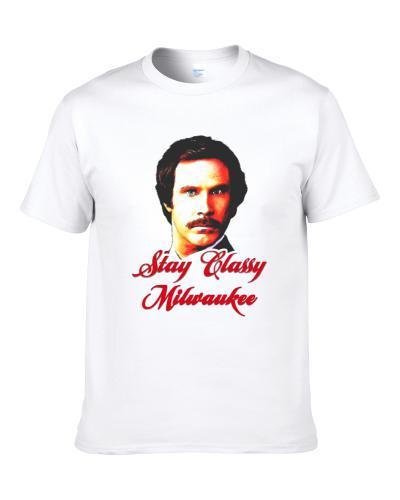 Stay Classy Milwaukee Anchorman Ron Burgundy TEE