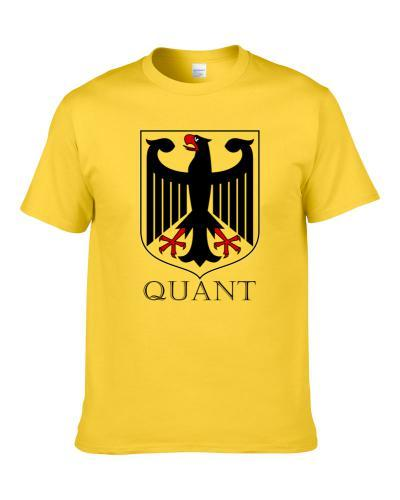Quant German Last Name Custom Surname Germany Coat Of Arms S-3XL Shirt