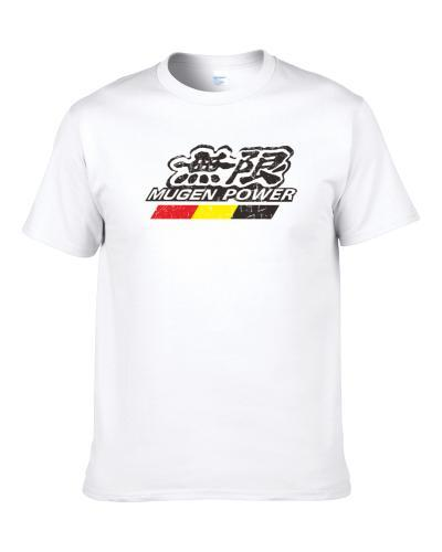 Mugen Power Automobile Car Truck Motorcycle Auto Parts Cool Distressed Style Brand Logo Emblem T-Shirt
