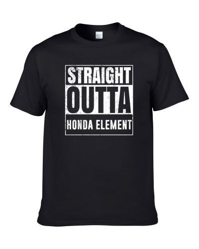 Straight Outta Honda Element Compton Parody Car Lover Fan Hooded Pullover T Shirt