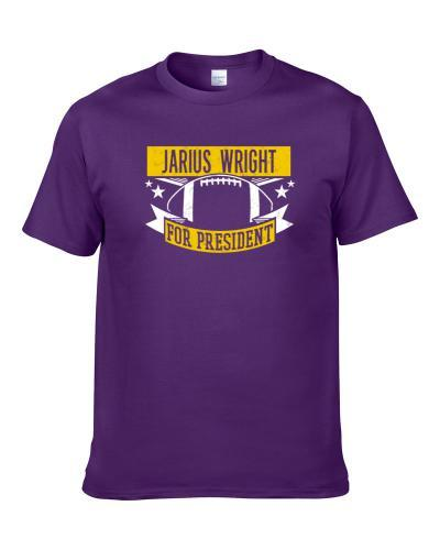 Jarius Wright For President Minnesota Football Player Funny Political Satire Sports Fan Men T Shirt