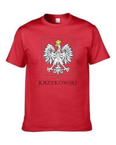 Krzykowski Polish Last Name Custom Surname Poland Coat Of Arms S-3XL Shirt