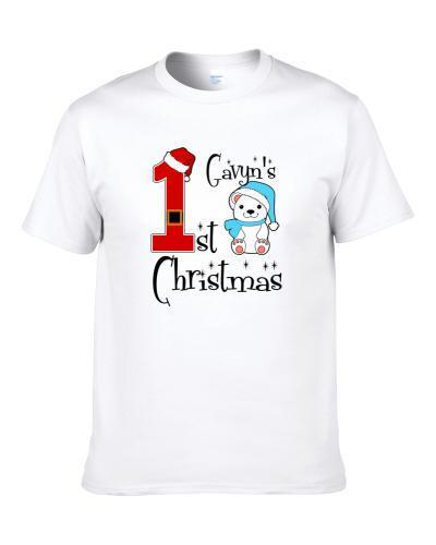 Gavyn Baby Boy First Christmas Cute Christmas S-3XL Shirt