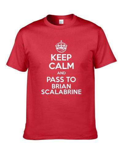 Keep Calm And Pass To Brian Scalabrine Chicago Basketball Players Cool Sports Fan tshirt for men