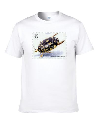 Insects And Spiders Spotted Water Beetle Stamp Collector Gift Worn Look Men T Shirt
