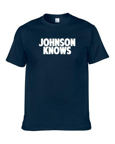 Kevin Johnson Knows Houston Football Player Sports Fan S-3XL Shirt