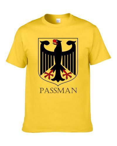 German Last Name Custom Passman Germany Coat Of Arms T Shirt