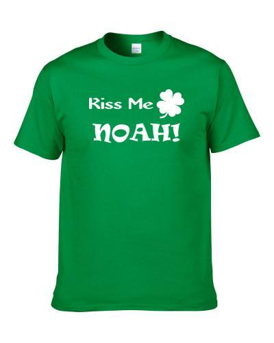 Kiss Me Noah St. Patrick's Day Party Lover Clover Shamrock S-3XL Shirt