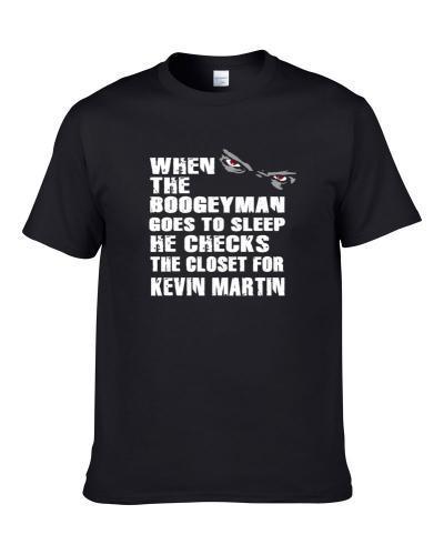 Boogeyman Checks The Closet For Kevin Martin Minnesota Basketball Player Sports Fan TEE