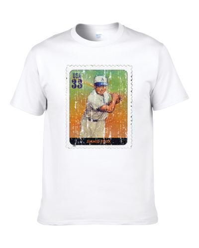 Legends Of Baseball Jimmie Foxx Stamp Collector Gift Worn Look Shirt