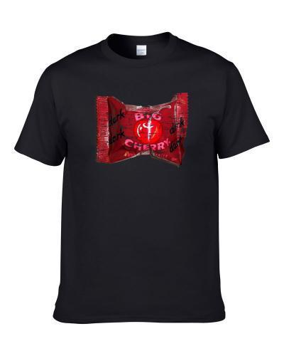 Big Cherry Dark Chocolate Retro Candy Gift Worn Look Men T Shirt