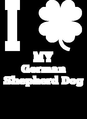 I Love My German Shepherd Dog St. Patrick's Day Clover Dog S-3XL Shirt