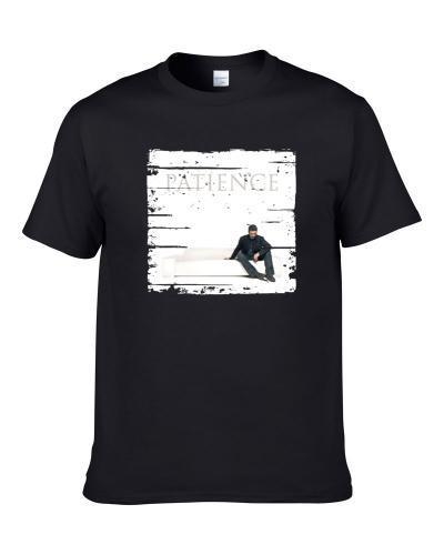 George Michael Patience Album Poster Worn Look Pop Music Tribute Shirt